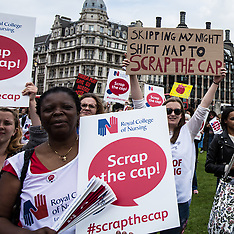 6 Sept 2017 - Nurses rally in central London against the continued Public sector pay cap.
