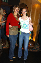 Left to right, MAYA FIENNES and MISS AMARYLLIS FRASER at a party to launch Riggid - T-shirt Couture held at Momo's Kemia Bar, 25 Heddon Street, London W1 on 18th November 2004.<br />