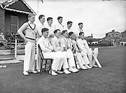 09/07/1952<br /> 07/09/1952<br /> 09 July 1952<br /> Munster v Leinster Schools Cricket at Rathmines, special for the Cork Examiner. The Munster Team.