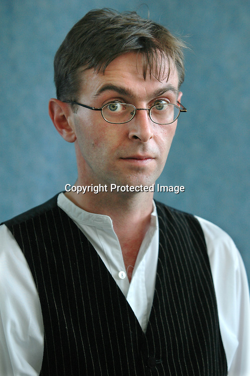 29 August 2005-British writer Stuart Kelly, author of &quot;The Book of Lost Books&quot; <br />at the Edinburgh International Book Festival<br /> <br />Copyright Pascal Saez<br />pascal_saez@hotmail.com