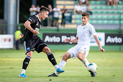 Luka Šušnjara of Mura and Adam Vošnjak of Rudar during football match between NS Mura and NK Rudar in 6th Round of 6th Round of Prva liga Telekom Slovenije 2019/20, on Avgust 18, 2019 in Fazanerija, Murska Sobota, Slovenia. Photo by Blaž Weindorfer / Sportida