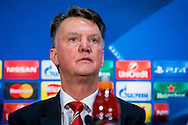 MANCHESTER, Manchester United - PSV, voetbal Champions League groepsfase, seizoen 2015-2016, 24-11-2015, Old Trafford, persconferentie Manchester United, Louis van Gaal.