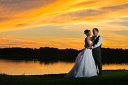 Jenny and Brandon were married at Fenton United Methodist Church, with a killer party following at Waldenwoods Resort. Sunset by the lakeside was gorgeous, and the guests celebrated into the evening with dancing and a taco truck.