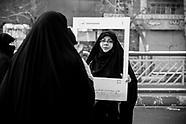 Teheran revolution parade for the anniversary of the revolution