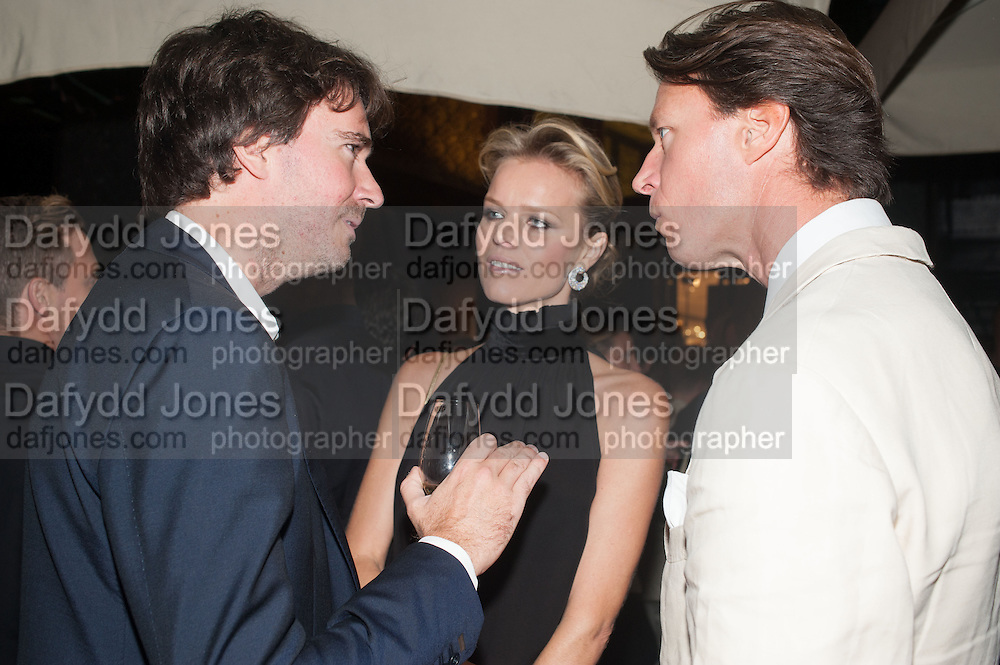 ANTOINE ARNAULT; EVA HERZIGOVA; GREGORIO MARSIAJ, Dinner to celebrate the opening of the first Berluti lifestyle store hosted by Antoine Arnault and Marigay Mckee. Harrods. London. 5 September 2012.