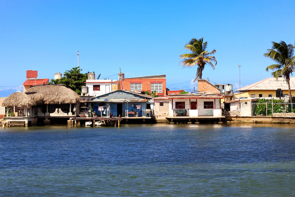 Waterfront houses in Playa Baracoa, Artemisa, Cuba.