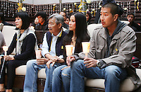 June 03, 2009; Santa Monica, CA - (L_R) Mary Ling, Doug Ling, Lisa Ling and Paul Song at a candlelight vigil at Wokcano for Euna Lee and Laura Ling, two American journalists who have been detained in North Korea for nearly three months...Photo Credit: Darrell Miho