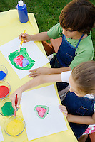 Kids Painting Outside