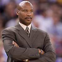 12 april 2008: Byron Scott, head coach of the New Orleans Hornets is seen during the Sacramento Kings 94-91 victory over the New Orleans Hornets, at the Arco Arena, in Sacramento, California, USA.