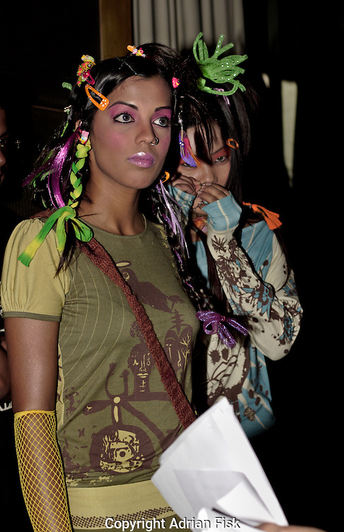 Backstage during Abhishek Gupta and Nandita Basu's show - India fashion week, Autumn - winter collections, New Delhi, April 2006