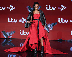 Jennifer Hudson at The Voice UK Final photocall, Elstree Studios, Borehamwood. Picture credit should read: Doug Peters EMPICS Entertainment