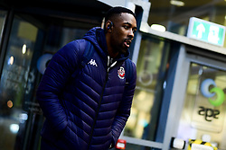 Raphell Thomas-Edwards of Bristol Flyers arrives at SGS Wise Arena prior to kick off - Photo mandatory by-line: Ryan Hiscott/JMP - 06/12/2019 - BASKETBALL - SGS Wise Arena - Bristol, England - Bristol Flyers v Sheffield Sharks - British Basketball League Championship