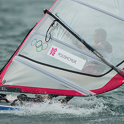 2012 Olympic Games London / Weymouth<br /> RSX man racing day 1 <br /> RS:X MenRUSPolishchuk Dmitry