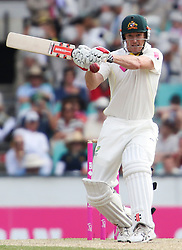 © Licensed to London News Pictures. 04/01/2014. Steve Smith during day 2 of the 5th Ashes Test Match between Australia Vs England at the SCG on 4 January, 2013 in Melbourne, Australia. Photo credit : Asanka Brendon Ratnayake/LNP