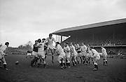 Irish Rugby Football Union, Ireland v England, Five Nations, Landsdowne Road, Dublin, Ireland, Saturday 13th February, 1965,.13.2.1965, 2.13.1965,..Referee- H S Laidlaw, Scottish Rugby Union, ..Score- Ireland 5 - 0 England, ..Irish Team, ..T J Kiernan,  Wearing number 15 Irish jersey, Full Back, Cork Constitution Rugby Football Club, Cork, Ireland,..P J Casey, Wearing number 14 Irish jersey, Right Wing, Landsdowne Rugby Football Club, Dublin, Ireland, ..M K Flynn, Wearing number 13 Irish jersey, Right Centre, Wanderers Rugby Football Club, Dublin, Ireland, ..K J Houston, Wearing number 12 Irish jersey, Left Centre, Bruff Rugby Football Club, Limerick, Ireland, and, Oxford University Rugby Footabll Club, Oxford, England,..P J McGrath,  Wearing number 11 Irish jersey, Left Wing, University college Cork Rugby Football Club, Cork, Ireland,..C M H Gibson, Wearing number 10 Irish jersey, Stand Off, Cambridge University Rugby Football Club, Cambridge, England, and, N.I.F.C, Rugby Football Club, Belfast, Northern Ireland, ..R M Young, Wearing number 9 Irish jersey, Scrum Half, Queens University Rugby Football Club, Belfast, Northern Ireland,..S MacHale, Wearing number 1 Irish jersey, Forward, Landsdowne Rugby Football Club, Dublin, Ireland, ..K W Kennedy, Wearing number 2 Irish jersey, Forward, Queens University Rugby Football Club, Belfast, Northern Ireland,..R J McLoughlin, Wearing number 3 Irish jersey, Captain of the Irish team, Forward, Gosforth Rugby Football Club, Newcastle, England, ..W J McBride, Wearing number 4 Irish jersey, Forward, Bective Rangers Rugby Football Club, Dublin, Ireland,  ..W A Mulcahy, Wearing number 5 Irish jersey, Forward, Bective Rangers Rugby Football Club, Dublin, Ireland,  ..M G Doyle, Wearing number 6 Irish jersey, Forward, University College Dublin Rugby Football Club, Dublin, Ireland,..R A Lamont, Wearing number 8 Irish jersey, Forward, Instonians Rugby Football Club, Belfast, Northern Ireland, ..N Murphy, Wearing number 7 Irish jersey,