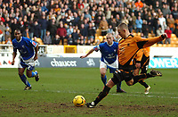 Photo: Ed Godden.<br /> Wolverhampton Wanderers v Ipswich Town. Coca Cola Championship. 18/02/2006. <br /> Wolves' Kenny Miller scores the penalty.