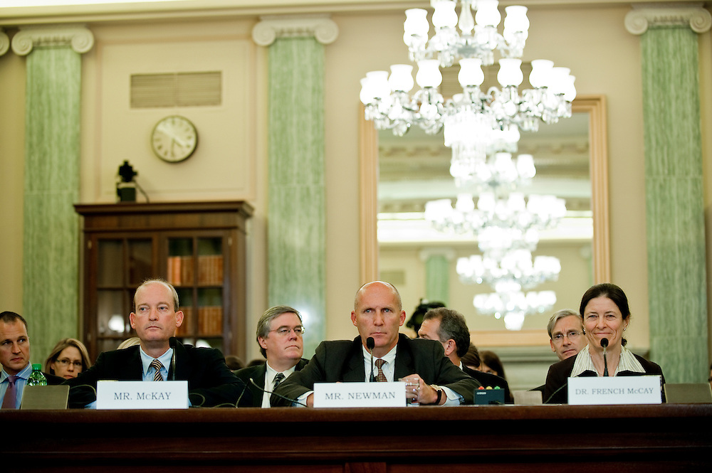 May 18,2010 - Washington, District of Columbia USA -  Lamar McKay, chairman and president of BP America Inc.; Steven Newman, president and CEO of Transocean Ltd.; Deborah French McCay, principal at Applied Science Associates, Inc. appear before the Senate Commerce, Science and Transportation Committee for a hearing on the response to the accident involving the Deepwater Horizon in the Gulf of Mexico.(Credit Image: © Pete Marovich/ZUMA Press)