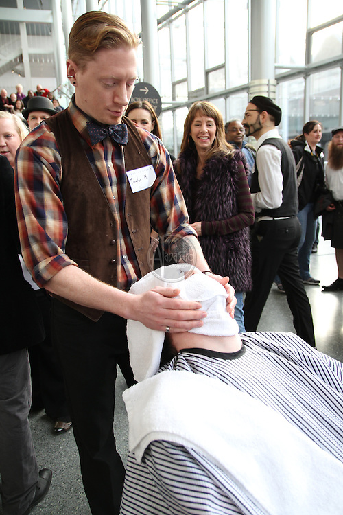 "Seattle Opera hosts the ""Barber of Seattle"" closest shave competition at McCaw Hall on January 8, 2011."
