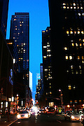 New York, New York. United States. February 26th 2006. .West view of 54th Street from 6th Avenue..
