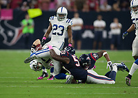 October 9, 2014: Houston Texans Linebacker Akeem Dent (50) makes a tackle during the NFL American Football Herren USA game between the Indianapolis Colts and the Houston Texas at NRG Stadium in Houston, TX. NFL American Football Herren USA OCT 09 Colts at Texans PUBLICATIONxINxGERxSUIxAUTxHUNxRUSxSWExNORxONLY Icon14100914<br /> <br /> October 9 2014 Houston Texans Linebacker Akeem Dent 50 makes A Tackle during The NFL American Football men USA Game between The Indianapolis Colts and The Houston Texas AT NRG Stage in Houston TX NFL American Football men USA OCT 09 Colts AT Texans PUBLICATIONxINxGERxSUIxAUTxHUNxRUSxSWExNORxONLY