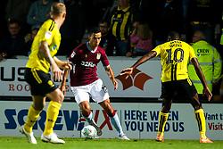 Anwar El Ghazi of Aston Villa takes on Lucas Akins of Burton Albion - Mandatory by-line: Robbie Stephenson/JMP - 28/08/2018 - FOOTBALL - Pirelli Stadium - Burton upon Trent, England - Burton Albion v Aston Villa - Carabao Cup
