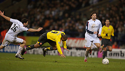 Bolton, England - Wednesday, February 14, 2007: Bolton Wanderers' Tal Ben Haim tackles Arsenal's Julio Baptista before being shown his second yellow card, leading to a red card, and is sent off against Arsenal during the FA Cup 4th Round Replay at the Reebok Stadium. (Pic by David Rawcliffe/Propaganda)