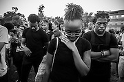 A moment of silence for Trayvon Martin - <br /> A group of demonstrators gather at Howard University to peacefully show support for Trayvon Martin who was shot and killed by George Zimmerman.