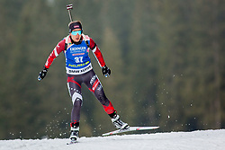 Baiba Bendika (LAT) during Women 15km Individual at day 5 of IBU Biathlon World Cup 2018/19 Pokljuka, on December 6, 2018 in Rudno polje, Pokljuka, Pokljuka, Slovenia. Photo by Ziga Zupan / Sportida