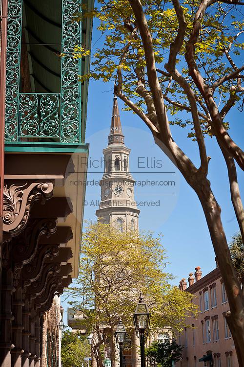 Historic St. Phillip's Church in Charleston, SC.
