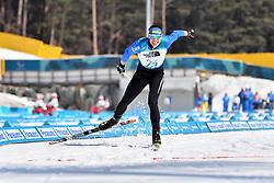 REPTYUKH Ihor UKR LW8 competing in the ParaBiathlon, Para Biathlon at  the PyeongChang2018 Winter Paralympic Games, South Korea.
