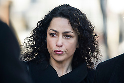 © Licensed to London News Pictures. 07/03/2016. Croydon, UK.  Former Chelsea team doctor EVA CARNEIRO arrives at Croydon Employment Tribunal in south London where a private hearing is due to take place to discuss her constructive dismissal case against Chelsea FC.  Carneiro left Chelsea Football Club following an on pitch row with former manager Jose Mourinho in August 2015 . Photo credit: Ben Cawthra/LNP