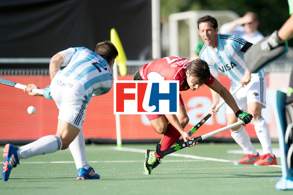 BREDA - Rabobank Hockey Champions Trophy<br /> Argentina - Belgium <br /> Photo: Thomas Briels.<br /> COPYRIGHT WORLDSPORTPICS FRANK UIJLENBROEK