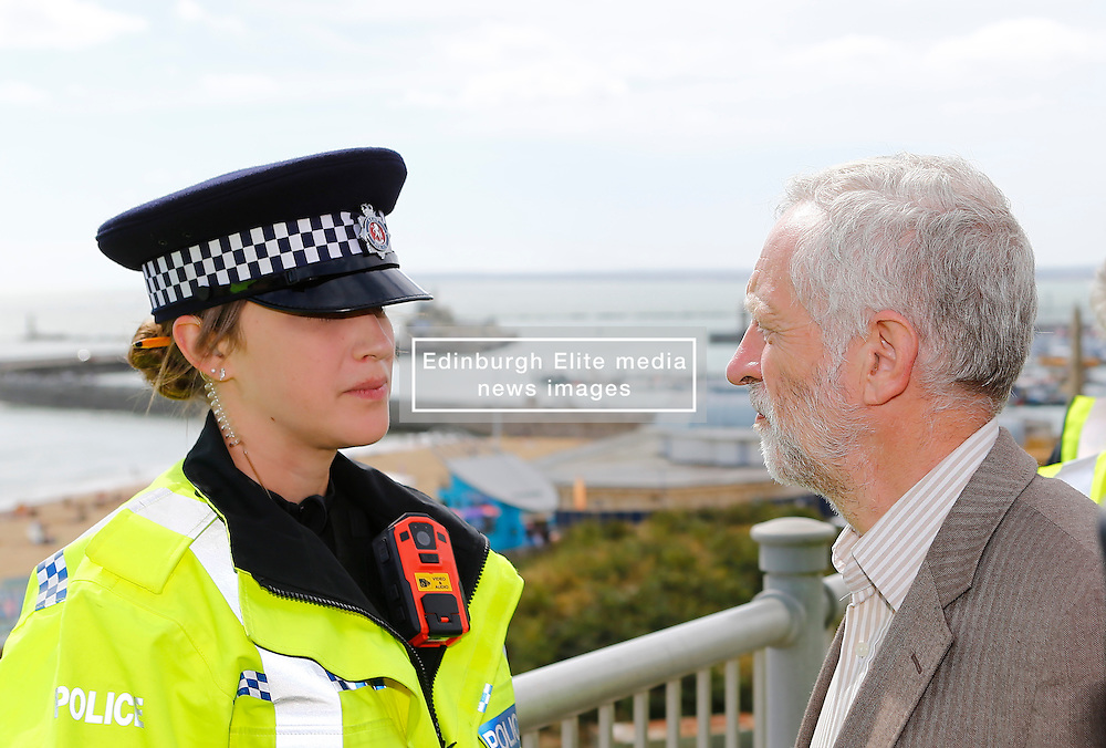 Labour leader Jeremy Corbyn visits a rally on Ramsgate seafront. (c) Charles Saddler 03/09/2016<br /> <br /> (c) CHARLES SADDLER | Edinburgh Elite media
