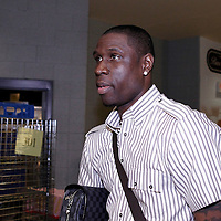 07 June 2012:  Boston Celtics small forward Mickael Pietrus (28) arrives at the TD Garden for Game 6 of the Eastern Conference Finals playoff series, at the TD Banknorth Garden, Boston, Massachusetts, USA.