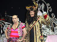 Louie Spence; David Hasselhoff First Family Entertainment Pantomime photocall, Piccadilly Theatre, London UK, 26 November 2010: piQtured Sales: Ian@Piqtured.com +44(0)791 626 2580 (picture by Richard Goldschmidt)