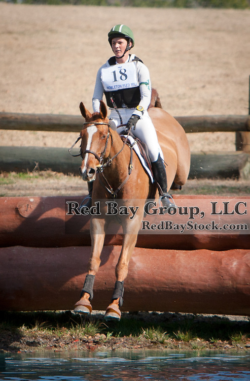 Colleen Loach and Freespirit at the 2014 Pine Top Farm Advanced Horse Trials in Thomson, Georgia.