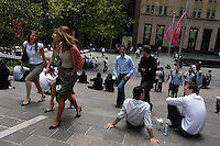 Lunch time in Sydney CBD, NSW, Australia.