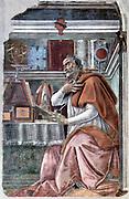 St Augustine  by Sandro Botticelli (1445–1510)