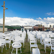 185 empty chairs memorial for Christchurch earthquake