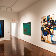 Paintings by Kazuya Sakai (1927-2001) or Argentina on display at the Art Museum of the Americas exhibit titled Fusion: Tracing Asian Migration to the Americas Through AMA's Collection.