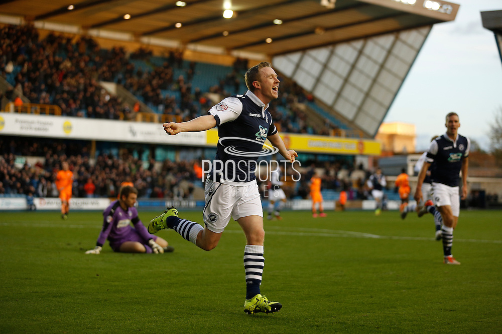 *** during the Sky Bet League 1 match between Millwall and Colchester United at The Den, London, England on 21 November 2015. Photo by Andy Walter.