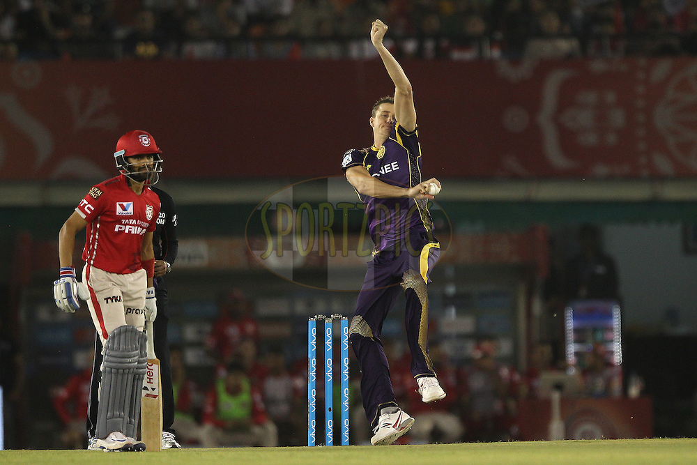 More Morkel during match 13 of the Vivo Indian Premier League ( IPL ) 2016 between the Kings XI Punjab and the Kolkata Knight Riders held at the IS Bindra Stadium, Mohali, India on the 19th April 2016<br /> <br /> Photo by Ron Gaunt / IPL/ SPORTZPICS
