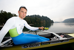 Tomaz Pirih during media day of Slovenian National rowing team before World Championships in New Zealand 2010 on October 14, 2010 in Mala Zaka, Bled, Slovenia. (Photo by Vid Ponikvar / Sportida)