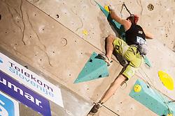 Sebastian Halenke (NEM) during final day of competition of IFSC Climbing World Cup Kranj 2016, on November 27, 2016 in Arena Zlato Polje, Kranj, Slovenia. (Photo By Grega Valancic / Sportida.com)