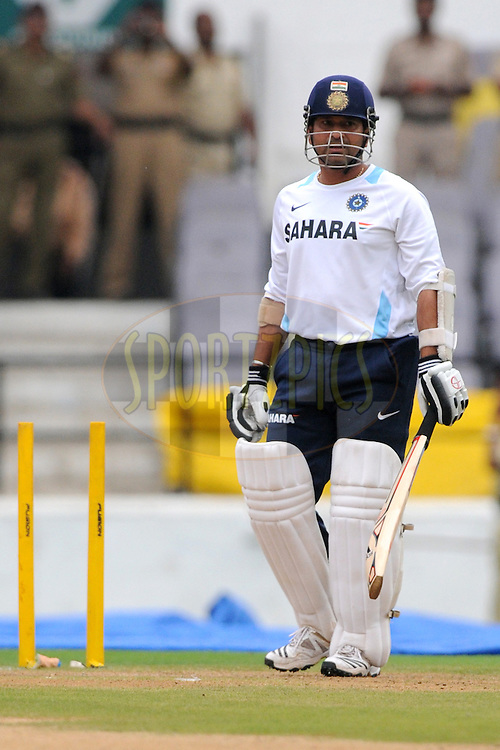 Sachin Tendulkar of India during the nets sessions held at the Vidarbha Cricket Stadium in Nagpur on the 19th November 2010..Photo by Pal Pillai/BCCI/SPORTZPICS