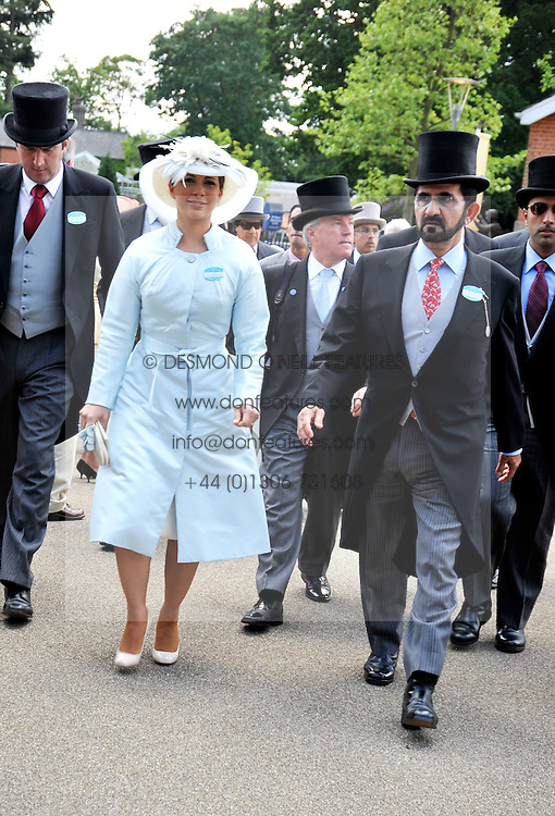 SHEIKH MOHAMMED AL MAKTOUM and his wife HAYA at at the first day of the 2009 Royal Ascot racing festival on 16th June 2009.