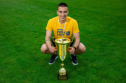 Igor Vekic during celebration of NK Bravo, winning team in 2nd Slovenian Football League in season 2018/19 after they qualified to Prva Liga, on May 26th, 2019, in Stadium ZAK, Ljubljana, Slovenia. Photo by Vid Ponikvar / Sportida