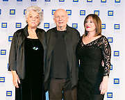 (L-R) Tyne Daly, Terrence McNally and Patti LuPone at the  HRC's Greater NY Gala 2014 held at the Waldorf=Astoria in New York City on Saturday, February 8, 2014. (Photo: JeffreyHolmes.com)