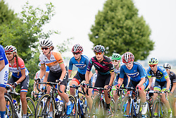 Barbara Guarischi (CANYON//SRAM Racing) in the bunch with former World Champion, Marianne Vos at Thüringen Rundfarht 2016 - Stage 3 a 115km road race starting and finishing in Altenburg, Germany on 17th July 2016.
