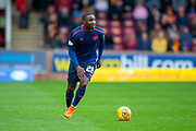 Clevid Dikamona (#28) of Heart of Midlothian during the Ladbrokes Scottish Premiership match between Motherwell and Heart of Midlothian at Fir Park, Motherwell, Scotland on 15 September 2018.